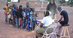 Malaria detection campaign in the Bobo-Dioulasso (Burkina-Faso) in collaboration with the Institut de Recherche en Sciences de la Santé. Elena