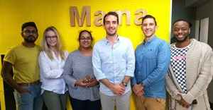 Some of team Mama Creative, from L to R: Kyle Gounden, Karla Strydom, Mishka Naidoo, Nicola Rossi, Adam Leontsinis, and Tetelo Nhlapo.