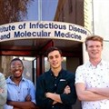 Nick Loxton, president of the UCT Surgical Society (left,) with (from second left) Sipho Ndereya, Matthew Potter and Liam Devenish, who are heading up the project.