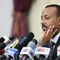 Prime Minister Abiy Ahmed speaks during a press conference in Addis Ababa, in August 2018. Since Abiy's election, conditions for Ethiopia's journalists have improved, but some challenges remain. Credit: CPJ/AFP/Michael Tewelde.