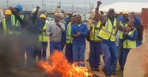 Construction workers strike over training fund