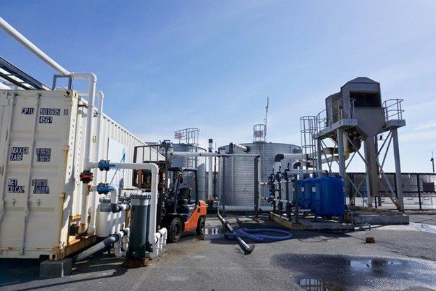 Quality Filtration Systems runs this desalination plant in the Waterfront. Photo: Kristine Liao