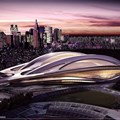 Rendering of Japan's 2020 Olympic stadium. Source: Renewable Energy World