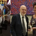 Pictured are Paul Holmes of The Holmes Report and Regine le Roux, managing director of South Africa's Reputation Matters. Reputation Matters scooped up two SABRE Africa awards, one for superior achievement in measurement and evaluation and the other for the industry sector category.