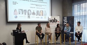 Image supplied. From left to right: Paula Hulley from the IAB, Dan Pinch from King James, Ansa Leighton, from DQ&A, Razia van der Schuur from Change News Digital (ex. IOL), Karyn Strybos from Everlytic, and Godfrey Parkin of Britefire.