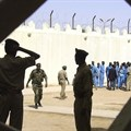 Prison guards are seen at Somaliland's Hargeisa prison on March 29, 2011. Television reporter Abdirahman Keyse Mohamed was recently arrested by police in Somaliland and is being held without charge in a prison in Las Anod. Credit: CPJ/AP/Katharine Houreld)