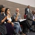 Professor Soraya Bardien, Dr Handri Walters, Professor Leslie Swartz, Professor Jonathan Jansen and Professor Jimmy Volmink