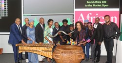 Brand Africa 100 launch at the Johannesburg Stock Exchange, South Africa.