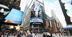 The APO-Getty strategic partnership was acknowledged with a photo of Lee Martin, Senior Vice President, Global Strategic Development at Getty Images, and Lionel Reina, CEO of APO Group, displayed on the NASDAQ Tower in New York's Time Square. The NASDAQ Tower is considered the most visible LED video display in Times Square and is one of the most valuable advertising spaces in the world.