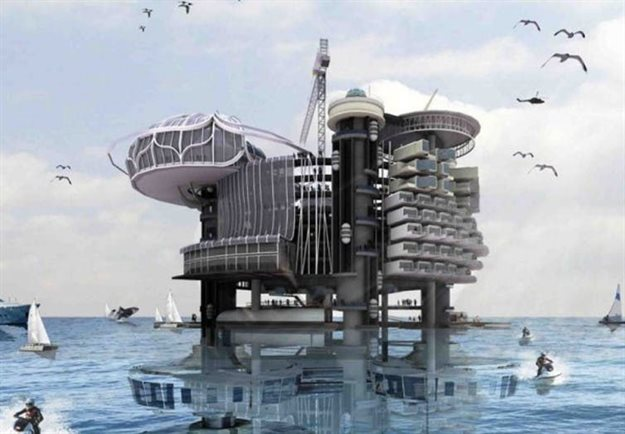 Transforming oil rigs into liveable structures. Ku Yee Kee and Hor Sue-Wern's entry in the 2011 eVolo Skyscraper Competition. ,