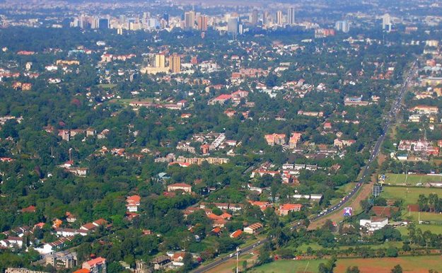 Aerial view of Nairobi cityscape in Kenya. Image source: