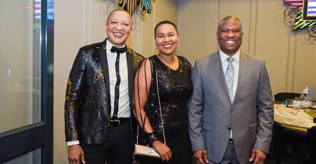 Billion Group CEO Sisa Ngebulana, Commercial Director of Billion Group Vuyokazi Njongwe, and Eastern Cape premier Oscar Mabuyane.