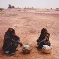 Two women sell roadside refreshments in rural Kano in 2011. Shobana Shankar, CC BY-SA