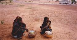 Two women sell roadside refreshments in rural Kano in 2011. Shobana Shankar, CC BY-SA
