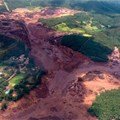 An aerial view of the Brumadinho dam collapse in Brazil. Photo by HO / Minas Gerais Fire Department