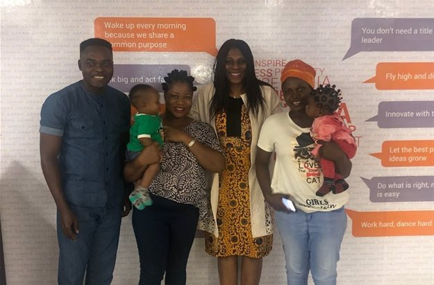 L-R: Olukayode Kolawole, Head of PR & Communications, Jumia Nigeria; Mrs Esther Olusanya, a full-time housewife; Mrs Juliet Anammah, CEO, Jumia Nigeria; and Mrs Omobolanle Ajala, a local tailor in Agege; at the launch of the Jumia Women & Youth Empowerment programme held last Friday at the Jumia Experience Centre, Yaba, Lagos. Image supplied.