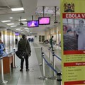 Border screening at Kenya's Jomo Kenyatta International Airport. EPA-EFE/DANIEL IRUNGU