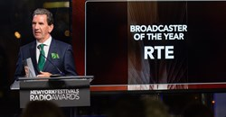 RTE Broadcaster of the Year, Tom McGuire, head of RTÉ Radio. Image supplied.