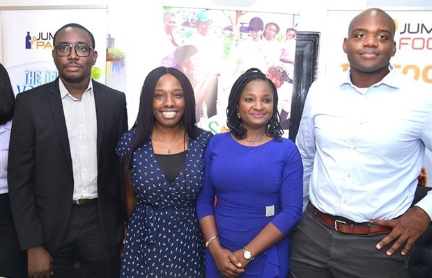 L-R: Olagoke Balogun, CEO, So Fresh; Fisayo Akinwumi, head of operations, Jumia Food; Abimbola Balogun, COO, So Fresh, and Guy Futi, managing director, Jumia Food