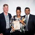 Barista of the Year went to Simnikiwe Mkhize of Rosetta Roastery. Warren Fenner (RMB) and Jayendran Pillay (FNB) delivered the award to uproarious applause from the crowd.
