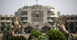 Burkina Faso's presidential palace is seen in Ouagadougou on March 20, 2019. The president and Constitutional Council have the power to prevent the enactment of revisions of the country's penal code that could result in jail time for reporters. Credit: CPJ/AFP/Olympia de Maismont.