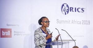 Ipeleng Mkhari, CEO and founder of Motseng Investment Holdings, speaking at the RICS Summit Africa 2019.