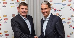 Tertius Carstens, CEO of Pioneer Foods, and Eugene Willemsen, CEO, PepsiCo sub-Saharan Africa.