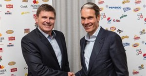 Tertius Carstens, CEO of Pioneer Foods, and Eugene Willemsen, CEO, PepsiCo sub-Saharan Africa.