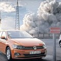 Screen grab from Ogilvy's 'Red Flashy Thingy' VW Polo ad.