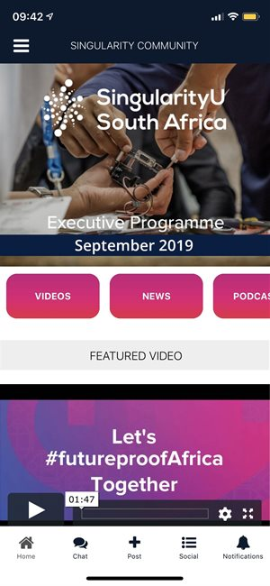 SingularityU South Africa launches a media app
