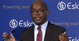 Outgoing Eskom Group Chief Executive Officer, Phakamani Hadebe