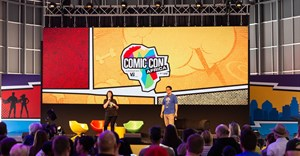 Weaving on stage at last year's inaugural Comic Con Africa.