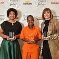 Winners of Fairlady Santam 2019 Women of the Future Awards: Rensha Manuel, Nondumiso Sibaya and Phillipa Geard. Image supplied.