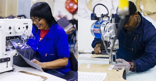 Local employees at the Levi's Epping factory.