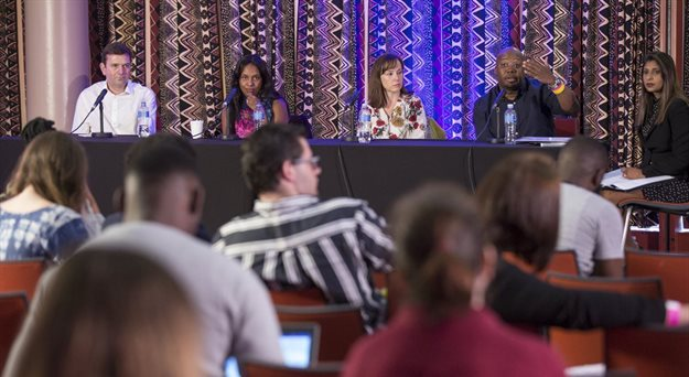 The Loeries' Game and Dion Wired 'What do CMOs really want' masterclass panel. Image via Al Nicoll © via Gallo Images.