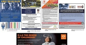 Shortlist finalists in the Recruitment Print Advert - Education category