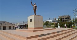 The statue of founding president Mwalimu Julius Nyerere in Tanzania's political capital Dodoma. Credit: WikiCommons.