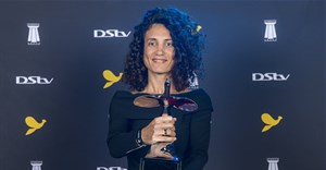 Sarah Berro backstage at the 2019 Loeries in Durban, South Africa. Image credit: Julian Carelsen/2019 Loerie Awards.