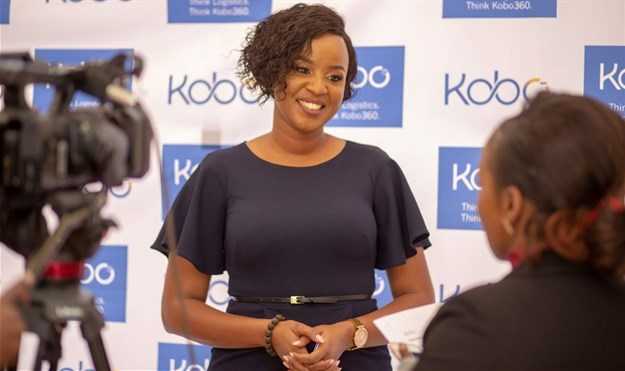 Kagure Wamunyu, Kobo360 CEO Africa region speaking to press at the Kenya launch