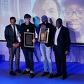 Standard Bank Sikuvile 2019 journalist and SA story of the year winners, Dewald Van Rensburg and Sipho Masondo of City Press.
