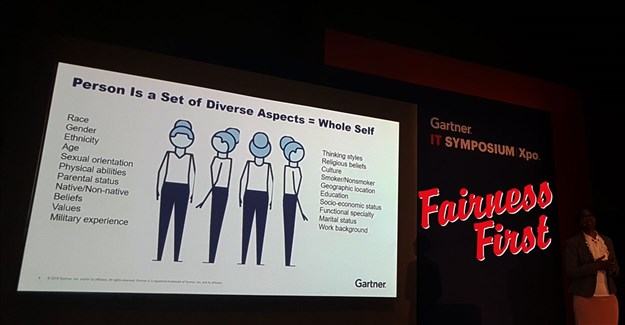 Griffin presenting at the Gartner Symposium.