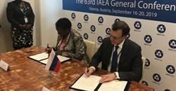 Muloni Irene Nafuna, Ugandan energy minister and Nikolay Spassky, deputy director general of Rosatom