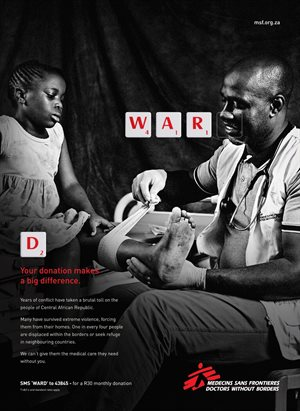 Fresh new ad campaign for Doctors Without Borders lets actions speak through clever wordplay