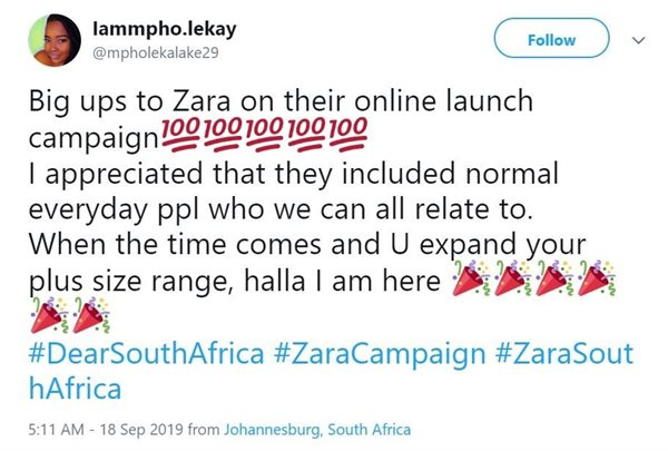 Zara's #DearSouthAfrica micro-influencer campaign floods social media