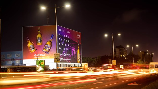 Pernod Ricard unveils massive Chivas Regal building wrap in Accra