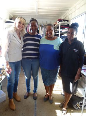 It's an all-women team at the heart of the Emthonjeni Community Centre (pictured from left): Estelle Mengel (partnership development), Jane Mokhethi (centre manager), Dikeledi Gouwe (project coordinator) and Joyce Mahlalela (swap shop manager and caretaker).