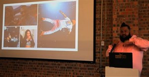PUMA's Sports Style Marketing Manager Hayden Manuel presenting at in the latest Red & Yellow lunchtime lecture.