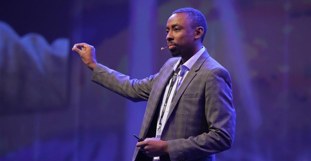 Murendeni Mafumo speaking at the SingularityU South Africa Summit 2019. Image supplied.
