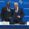 Gabriel Mbaga Obiang Lima, Equatorial Guinea's minister of mines and hydrocarbons and Sergey Gorkov, director general and chairman of the board of Rosge