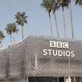 Recyclable pavilion designed for BBC Studios in Cannes